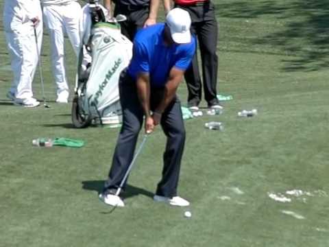 Tiger Woods Flop Shot 2012 Master's Practice Round