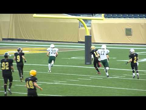 Heintz 47 yard TD reception from Gilewicz