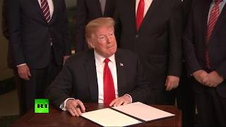 Trump signs declaration recognizing Israel's sovereignty over disputed Golan Heights - RUSSIATODAY