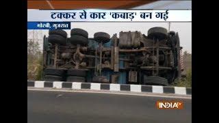 3 killed after car-truck collision in Gujarat's Morbi - INDIATV