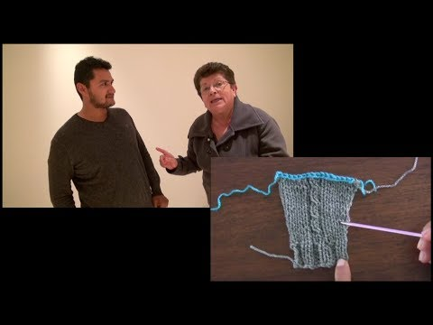 Medidas en tejidos con Esperanza Rosas (chompa=suéter)