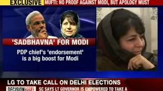 Mebooba Mufti: No proof against Modi, but apology must - NEWSXLIVE