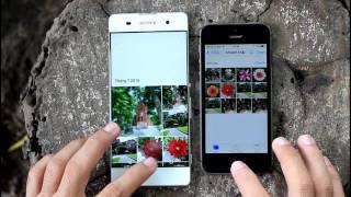 Speedtest iPhone 5s vs Xperia XA
