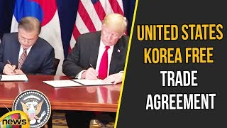 Trump Participates in a Signing Ceremony for the United States Korea Free Trade Agreement |MangoNews - MANGONEWS
