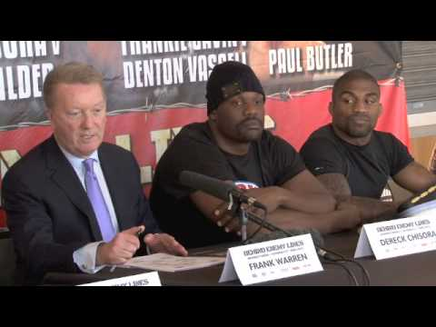 DERECK CHISORA v DEONTAY WILDER / GAVIN v VASSELL / SMITH v DODSON - FULL PRESS CONFERENCE