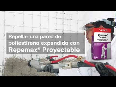 Repellar una pared de poliestireno expandido con Repemax Proyectable