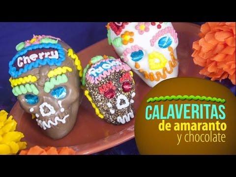 Calaveritas de Chocolate y Amaranto