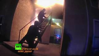 Dramatic video: Texas police rescue boy who was forced to jump from fire - RUSSIATODAY