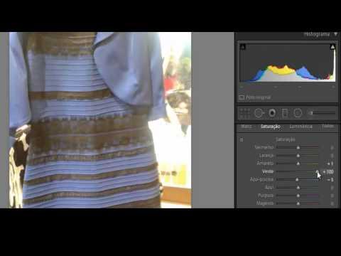 ✓ Mistério Revelado! A cor do vestido é azul e preto e não dourado e branco