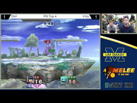 SWEET XIII - Dart (Marth) vs Vidjo (ZSS, Squirtle) - PM Top 4