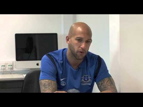 Everton FC Goalie Tim Howard (formerly Manchester United) in 