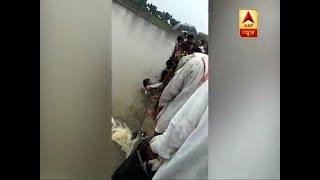 Rajasthan: Man rescued after he get drown in Parvan river in Rajasthan's Jhalawar - ABPNEWSTV