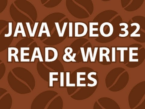 Java Video Tutorial 32