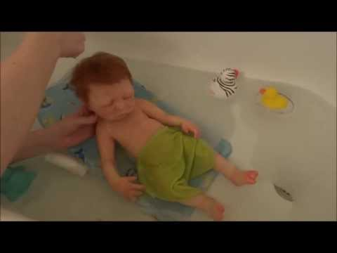 Dakota's First Bath (Full Body Silicone Baby)