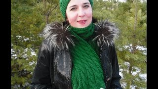 Мастер-класс по вязанию шапки и шарфа с узором