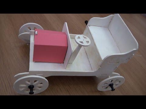 Marqueteria - coche del 1900