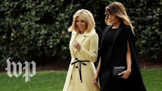 Melania Trump and Brigitte Macron tour museum - WASHINGTONPOST