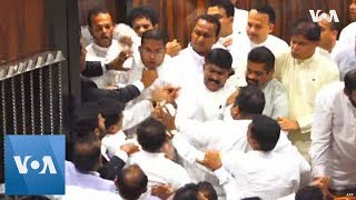Sri Lanka Parliament Brawl - VOAVIDEO