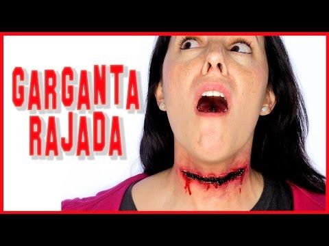 Garganta cortada tutorial efectos especiales FX#74   Silvia Quiros