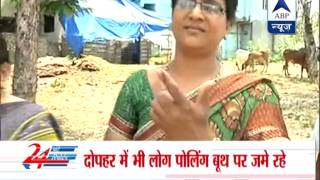 Voters exercised their franchise in Nanded - ABPNEWSTV