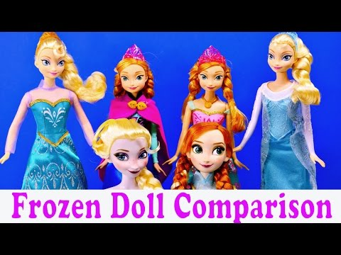 Disney Frozen Elsa and Anna Barbie Doll Comparison New Dresses Disney Cars Toy Club Review