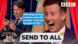 FULL CLIP Strictly's Anton AGHAST as Michael McIntyre PRANK body shames his contacts💃😝 - Send To All - BBC