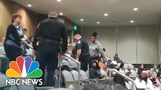 White Lecturer Calls Police On Black student For Putting Feet Up | NBC News - NBCNEWS
