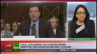 Comey drafted 'unclassified' statement ending Clinton email investigation long before case closed - RUSSIATODAY