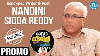 Renowned Writer & Poet Nandini Sidda Reddy Interview - Promo || Akshara Yathra With Mrunalini #16 - IDREAMMOVIES