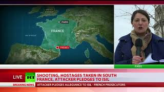 Trebes Siege: Shooting, hostages taken in south France, attacker pledges to ISIS - RUSSIATODAY