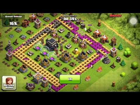 Clash of Clans - Farming Attack With Low Cost Troops