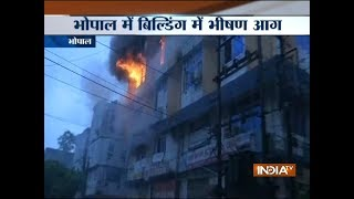 Major fire breaks out at a building in Bhopal - INDIATV
