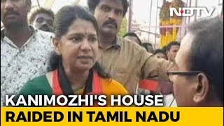 "After Raid At DMK Leader Kanimozhi's House, Tax Officials Say ""False Tip"" - NDTV"