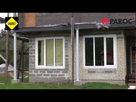 Kā siltina sienu ar PAROC vati pielietojot Sakret līmjavu?