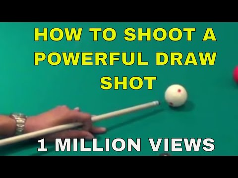 How to Shoot a Powerful Draw Shot (Pool Lessons)
