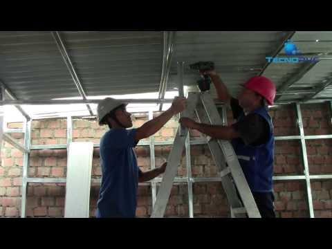 FALSO CIELO RASO DE PVC y TABIQUERIAS DE PVC Instalación - TECNOPVC