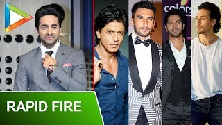 "Ayushmann Khurrana: ""SRK Is An Ideal SPERM, Tiger Shroff Is… "" | RAPID FIRE | Ranveer Singh - HUNGAMA"