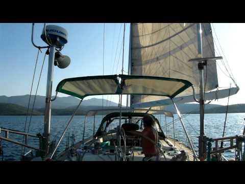 Sportküstenschifferschein- Prüfungsmanöver: Schiff unter Segeln um 360° drehen und Beiliegen