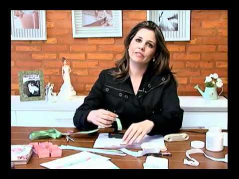 Mulher.com 13/06/2011 -  Porta-guardanapos com laço Chanel