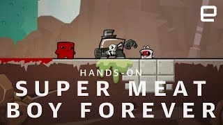 Super Meat Boy Forever at E3 2018 - ENGADGET