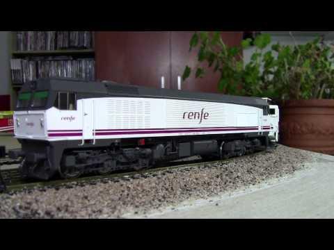 Maqueta de trenes con material de Renfe escala H0.....HD
