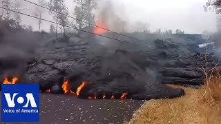 Hawaii volcano spews plume of ash, could blow again - VOAVIDEO