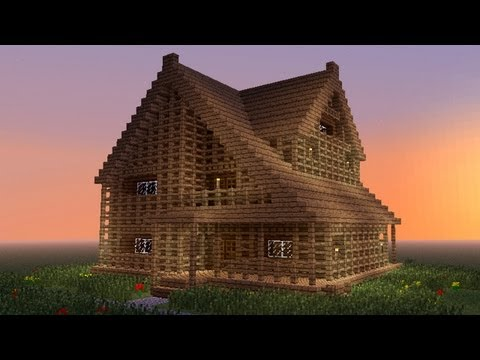 MINECRAFT: How to build big wooden house