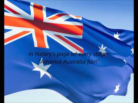 Australian National Anthem - &quot;Advance Australia Fair&quot; (EN)
