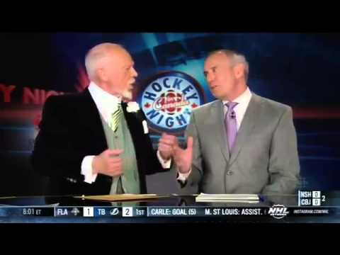 Don Cherry On Women Reporters In Guys Dressing Rooms (April 27th 2013)