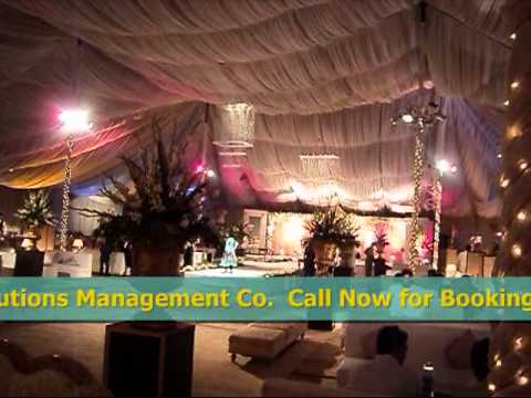 Beautiful Pakistani Thematic Barat Wedding Setup & decoration in Pink,Red,Gold & White Color Scheme