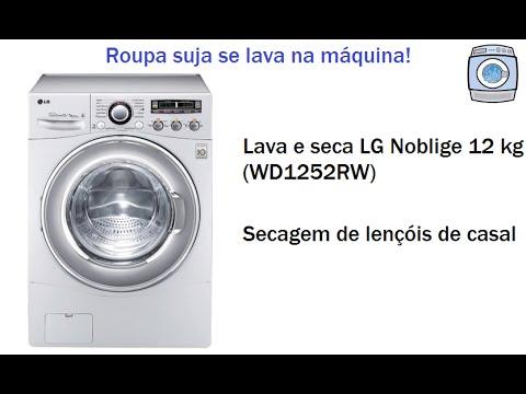 Lava e seca LG Noblige 12 kg (WD1252RW) - Secagem de 6 lençóis de casal