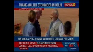 PM Modi & Prez Kovind welcomes German President Frank-Walter Steinmeier for his 5-day visit to India - NEWSXLIVE