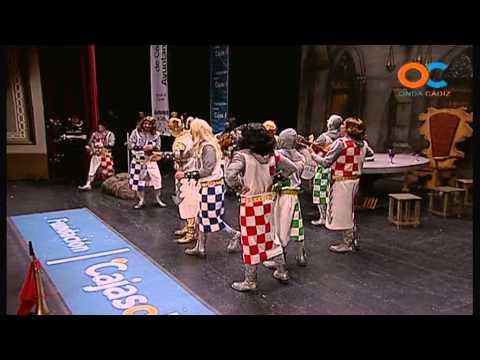 Sesión de Cuartos de final, la agrupación Los seguidores de Arturito actúa hoy en la modalidad de Chirigotas.