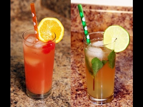 Mocktails: Nojito and Shirley Temple